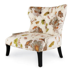 """Butterfly Chair - Spring is coming...time to plan for a lighter, airier interior. The """"Butterfly Chair"""" will beautifully lighten your home. Use this chair in your living room, bedroom or sunroom.Frame is tiger wood.36""""W x 37""""D x 39""""T."""