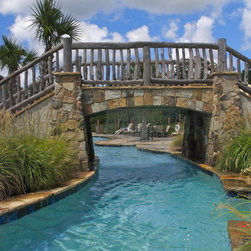 Project feature Fridays! - Happy Feature Friday!  This project is a completed by Year Round Pools utilizing a Custom Cascade stainless steel rain curtain that has a six foot drop.  It truly is such a gorgeous addition to any pool!  Thank you Year Round Pool for sharing this beautiful photo with us!