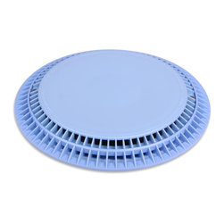 Color Match Pool Fittings - 10-inch Anti-Vortex VGB Pool Drain Cover, Light Blue, 10-Inch - Our Anti-Vortex VGB Pool Drain Covers offer exceptional flow rates and can be used for single or multiple drains on the pool floor or wall. They are VBG, ANSI, & NSF certified for pool safety.  The gradual slope design eliminates pool cleaner hang ups.
