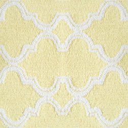 The Rug Market - JAFAR YELLOW ,Area Rug ,size   5x7 - This contemporary rug is made of UV Poly and will surely add color to any space