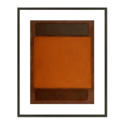 1000Museums - Orange, Brown, 1963 - Orange, Brown, 1963 by Mark Rothko, from the Detroit Institute of Arts collection.