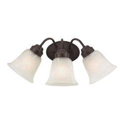 Trans Globe 3106 ROB Roanoke Bronze 3 Light Vanity - Trans Globe 3106 ROB Roanoke Bronze 3 Light Vanity-Collection: Roanoke-Number of Bulbs: 3-Bulb Type: 100 Watt Medium-Bulbs Not Included-Glass/Shade: White Marbleized-Weight: 8-1 Year Limited Warranty