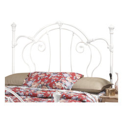 Hillsdale Furniture - Hillsdale Cherie Panel Headboard with Rails - Full/Queen - A sophisticated Victorian styled bed that marries interesting scroll work with vivid castings.