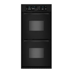 "KitchenAid - Architect II Series KEBC247VBL 24"" Double Electric Wall Oven with 3.1 cu. ft. Pe - Reduce cooking time while sealing in the natural juices and flavors of foods with the convection cooking system in this double wall oven The spacious 31 cu ft ovens easily accommodate multiple dishes simultaneously"