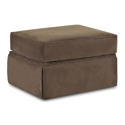 Klaussner - 28 in. Rectangular Ottoman in Chocolate - Woodwin sofa collection with its signature blend of quality, value and style.
