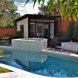 10x12 Studio Shed Pool room & backyard retreat - 10x12 Studio Shed + Lifestyle Interior