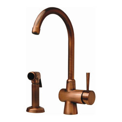 Whitehaus - Evolution Arcade Single Hole Faucet w Side Sp - Finish: Polished ChromeSingle lever mixer. Gooseneck swivel spout. Solid brass side spray. 7.25 in. L x 10.63 in. H. Warranty