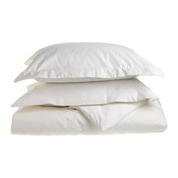 1500 Thread Count Cotton Full/Queen White Solid Duvet Set - 1500 Thread Count Full/Queen White Solid Duvet Set 100% Cotton