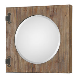 Uttermost - Gualdo Aged Wood Mirror Cabinet - This may be a medicine cabinet, but it could be so ...