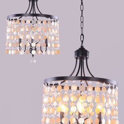 Modern Country Iron and Shell Pendant Lighting - http://www.phxlightingshop.com/index.php?main_page=advanced_search_result&search_in_description=1&keyword=9794
