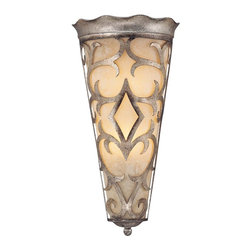 Savoy House - Champaign Half Moon Sconce - With this decorative wall sconce, you'll notice spectacular ornamentation. The subtle wave at the top complements the rest of the fluid design, which extends throughout the funnel-shaped frame.