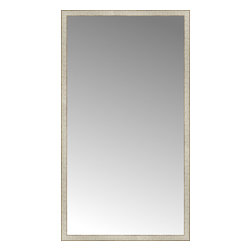 """Posters 2 Prints, LLC - 43"""" x 77"""" Libretto Antique Silver Custom Framed Mirror - 43"""" x 77"""" Custom Framed Mirror made by Posters 2 Prints. Standard glass with unrivaled selection of crafted mirror frames.  Protected with category II safety backing to keep glass fragments together should the mirror be accidentally broken.  Safe arrival guaranteed.  Made in the United States of America"""