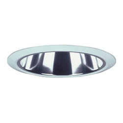 "Lithonia - Lithonia 6"" Clear Alzak Trim Recessed Light - The Lithonia clear alzak trim recessed light has a modern discreet look. This 6"" recessed light has a specular clear alzak trim which creates low brightness. It has been damp location listed. Clear alzak trim. Standard open trim. Narrow flange. Takes one 120 volt 13DTT lamp (not included). 6"" wide.  Clear alzak trim.   Standard open trim.   6 1/8"" height.  5 7/8 lamp opening.  7 5/8 lamp opening.  Rated for use with one 120 volt 13DTT ot 26 TRT lamp (not included)."