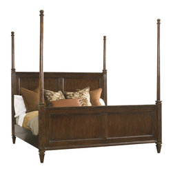Hickory White - Hickory White King Hi-Lo Poster Bed 865-25 - Maple solids with cherry veneers, heavy distressing.