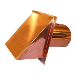 Luxury Metals - Copper Exterior Side Wall Cap, 8 Inch, With Screen Only - Sturdy Copper Outside Wall Vent with Screen. 16 oz Copper. 26 Gauge Quality. Used for Exhaust and Air Intake