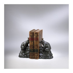 Cyan Design - Cyan Design King Frog Bookends in Rustic Verde Bronze (Set of 2) - King Frog Bookends in Rustic Verde Bronze (Set of 2)
