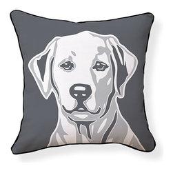 """Naked Decor - Labrador Retriever Pillow - Size: 18""""x18"""""""