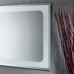 Gedy - Square Mirror with Sandblasted Frame - Part of the Gedy Iridium collection, this wall mounted vanity mirror is essential. Made in Italy by Gedy, a quality, contemporary vanity mirror that perfectly compliments modern settings. Made in mirror and available in polished. Vanity Mirror for a high-end master bathroom. Decorative vanity mirror. Quality mirror, coated in polished. Made by Gedy in Italy.