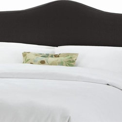 Skyline Furniture - Slipcover Headboard w Foam Padding in Linen B - Choose Size: California KingAdjustable legs. Plush foam padding. Attaches to standard bed frames. Made from 55% linen and 45% viscose. Made in the USA. Minimal assembly required. Twin: 41 in. L x 4 in. W x 51 in. H (24 lbs.)Full: 56 in. L x 4 in. W x 51 in. H (31 lbs.). Queen: 62 in. L x 4 in. W x 51 in. H (33 lbs.). King: 78 in. L x 4 in. W x 51 in. H (45 lbs.). California king: 74 in. L x 4 in. W x 51 in. H (40 lbs.)Slipcover headboard with decorative ties