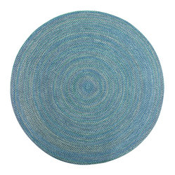 None Smithfield Navy Indoor Outdoor Braided Rug 8