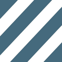 """Indigo Root - Tilez Peel & Stick Wallpaper Squares - Deco Mod Stripes, Inky Blue, 12""""x12"""" 5-Pa - 12""""x12"""" Peel and Stick Tilez squares are made of a polyester fabric material and are environmentally safe. Bio-degradable over time. Since Tilez are non-toxic, they are great for infant and kids rooms! Transform small spaces. Refurbish old furniture. Create a non-slip dinner table runner. Tilez allows you to easily create stripes on a wall with in seconds! This material does not rip or wrinkle and is not required to be removed over time. Results may vary on stucco and other surfaces that are not smooth & clean."""