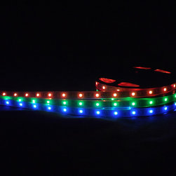 RGB Strip Lights - Accent your life with fun, flexible LED color changing lights in your living or work space! EnvironmentalLights.com flexible color changing LED strip lights feature superior LEDs and other components for color vibrancy and long life.