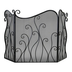 Cyan Design - Cyan Design Evalie Fire Screen in Bronze - Evalie Fire Screen in Bronze