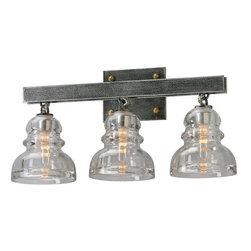 Troy Lighting - Troy Lighting B3953 Menlo Park 3 Light Bathroom Vanity Light with Glass Insulato - Features: