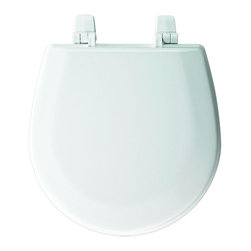 BEMIS - BEMIS Seats Marine Round Closed Front Toilet Seat in White TC50TTA - Ideal for use with small trailers marine bowls and portable toilets the BEMIS Child Closed Front Marine Toilet Bowl in White features molded-wood construction with a superior high-gloss finish that resists chipping and scratching to provide enduring use. The Top-Tite hinge helps ensure a secure fit to the bowl. Color: White.