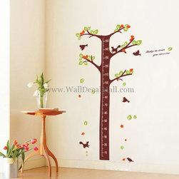 Kids Room Wall Decals - Realize The Dream Grow Into Tree Height Measurement Wall Decals--walldecalmall.com