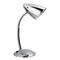 Lite Source - Gooseneck Desk Lamp, Chrome E12 Type G 40W - Gooseneck Desk Lamp, Chrome E12 Type G 40W