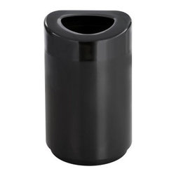 Safco 30 Gallon Open Top Receptacle Trash Can - About Safco ProductsSafco products were specifically developed to meet the changing needs of the business world, offering real design without great expense. Each product is designed to fit the needs of individuals and the way they work, by enhancing comfort and meeting the modern needs of organization in the workplace. These products encourage work-area efficiency and ultimately, work-life efficiency: from schools and universities, to hospitals and clinics, from small offices and businesses to corporations and large institutions, airports, restaurants, and malls. Safco continues to offer new colors, new styles, and new solutions according to market trends and the ever-changing needs of business life.