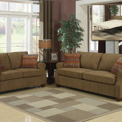 AC Pacific - Alex Sofa Bed Sleeper - Alex Sofa Bed - Polyester