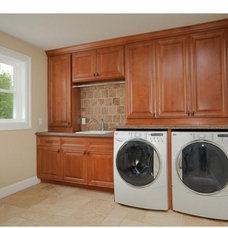Traditional Laundry Room by Capital Builders, LLC