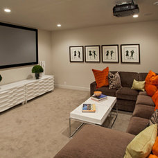 Modern Basement by Homes by Tradition