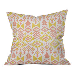Loni Harris Tribal Party Outdoor Throw Pillow - Do you hear that noise? it's your outdoor area begging for a facelift and what better way to turn up the chic than with our outdoor throw pillow collection? Made from water and mildew proof woven polyester, our indoor/outdoor throw pillow is the perfect way to add some vibrance and character to your boring outdoor furniture while giving the rain a run for its money.