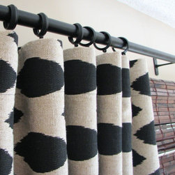 Decorative Designer Custom Curtains By CastleCreekDesigns - Curtains are a simple but powerful way to transform a room. This set of graphic ikat curtains will complete any room.
