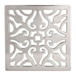 "Newport Brass - Newport Brass 233-404 Decorative Drains 4"" Square Shower Drain Grid - Features:Solid brass constructionEasy to install - magnetically securedRequires Newport Brass drain throat 277-01, sold separatelySpecifications:Length: 4-1/16""Width: 4-1/16""Depth: 3/16"""