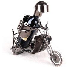 Modern Wine Racks Innovative Motorcycle Design Wine Rack