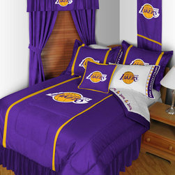 "NBA Los Angeles Lakers Bedding and Room Decorations - Whether game day or a regular night's sleep, make your room shout ""A true Los Angeles Lakers fan lives and sleeps here!"" We have a wide range of bedding and room decor products that will make quite an impression. Click the link below to view all items available for purchase."