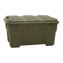 None - Richell 56-quart Camo Green Outdoor Storage Box - Be prepared for all odds with this 56-quart outdoor storage box. This polypropylene box is perfectly constructed,complete with snap-lock latches. This camo-green box can hold an assortment of different items and is perfect for your outdoor needs.