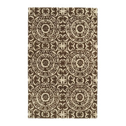 """Kaleen - Transitional Evolution Hallway Runner 2'3""""x8' Runner Brown Area Rug - The Evolution area rug Collection offers an affordable assortment of Transitional stylings. Evolution features a blend of natural Brown color. Hand Tufted of 100% Wool the Evolution Collection is an intriguing compliment to any decor."""