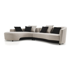 None - Modern 2-tone Left-facing Sectional - With a bold color pattern,this left-facing sectional will stand out in any room it is placed in. This charming furniture has a beautiful style that is sure to impress any guests that visit your home.