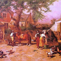 "George Washington Nicholson After the Day's Toil   Print - 16"" x 24"" George Washington Nicholson After the Day's Toil premium archival print reproduced to meet museum quality standards. Our museum quality archival prints are produced using high-precision print technology for a more accurate reproduction printed on high quality, heavyweight matte presentation paper with fade-resistant, archival inks. Our progressive business model allows us to offer works of art to you at the best wholesale pricing, significantly less than art gallery prices, affordable to all. This line of artwork is produced with extra white border space (if you choose to have it framed, for your framer to work with to frame properly or utilize a larger mat and/or frame).  We present a comprehensive collection of exceptional art reproductions byGeorge Washington Nicholson."