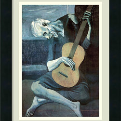 None - Pablo Picasso 'The Old Guitarist' Framed Art Print - Artist: Pablo Picasso Title: The Old Guitarist Product Type: Framed art print