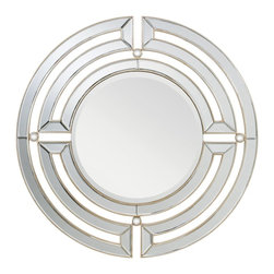 Kichler Lighting - Kichler Lighting Zoar Modern / Contemporary Round Mirror X-90287 - This rounded mirror features a Clear Beveled Mirror and Champagne Silver frame detailing to create a classic and refined showpiece that will enhance any space in your home.