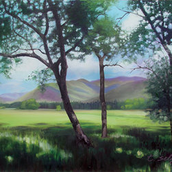 Trisha Selgrath Fine Art - Into the Light, Original Oil Painting - Cades Cove, The Great Smoky Mountain National Park, Tennessee
