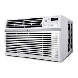 LG - 8000 BTU Window Air Conditioner - The LG LW8014ER Energy Star 8,000 BTU 115V Window-Mounted Air Conditioner with Remote Control is perfect for cooling a room up to 340 square feet. You will cool a lot and save even more with this unit's energy saver function, 24-hour on/off timer and a 11.3 Energy Efficiency Ratio. With its stylish full-function remote, you can even get your cool on from across the room. Plus, LG's patented Gold Fin anti-corrosion coating provides a protective shield so the unit lasts longer.2014 Energy Star qualified (EER rating 11.3)|8,000 BTU air conditioner for window-mounted installation|Uses standard 115V electrical outlet|Cools a room up to 340 sq. ft.|Dehumidification up to 2.2 pints per hour|Full-function remote control|Thermistor thermostat|3 cooling speeds / 3 fan speeds for cooling flexibility|24-hour on/off timer cools on your schedule|Energy saver function conserves energy and saves you money|  lg| electronics| lw8014er| 2014| energy| star| 8000| 8|000| btu| 115v| 115| v| volt| volts| cooling| air conditioner| ac| a/c| window-mounted| window| mounted| 340sf| 340| sq| sq.| ft| ft.  Package Contents: air conditioner|remote control|2 AAA batteries|mesh filter|installation kit|manual/installation instructions|warranty  This item cannot be shipped to APO/FPO addresses