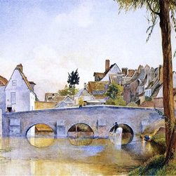 """Henry Roderick Newman Pont de Minimes, Chartres  Print - 18"""" x 24"""" Henry Roderick Newman Pont de Minimes, Chartres premium archival print reproduced to meet museum quality standards. Our museum quality archival prints are produced using high-precision print technology for a more accurate reproduction printed on high quality, heavyweight matte presentation paper with fade-resistant, archival inks. Our progressive business model allows us to offer works of art to you at the best wholesale pricing, significantly less than art gallery prices, affordable to all. This line of artwork is produced with extra white border space (if you choose to have it framed, for your framer to work with to frame properly or utilize a larger mat and/or frame).  We present a comprehensive collection of exceptional art reproductions byHenry Roderick Newman."""