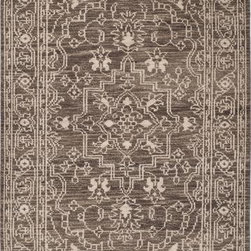 """Safavieh - Safavieh Kenya KNY682A 2'3"""" x 8' Brown, Beige Rug - Inspired by afghan throws crocheted by hand in Kenya of indigenous un-dyed wool, Safavieh's Kenya rug collection is textural and beautifully detailed. Hand-tufted in India of pure, naturally colored wool, they add a well-traveled look to any room."""